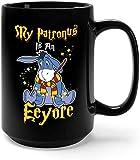 My Patronus Is An Eeyore Ceramic Coffee Mug Tea Cup (15oz, Black)