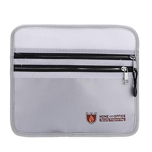 Kirmax 1 Uds Caja de Seguridad para Documentos una Prueba de Fuego Impermeable, Bolsa Protectora para Archivos Secretos, Documentos Escolares, Bolsa PortáTil con Cremallera Archivos