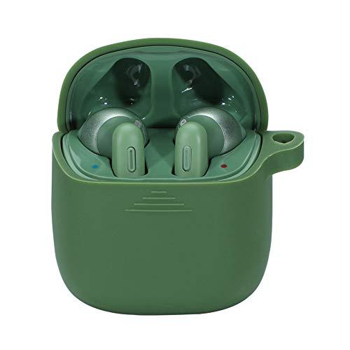 NOKOER Hülle für JBL Tune 220TWS, Airpod Pro Hülle Silikon Stoßfeste Schutzhülle, Superdünn, Kein Geruch, JBL Tune 220TWS Hülle Silikon - Armee grün