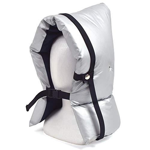 防災頭巾(椅子固定ゴム付き) 防炎シルバータイプ(紺) 子供用 N4450300