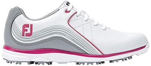 Footjoy Damen Pro S/l Golfschuhe, Weiß (Blanco/Gris/Rosa 98101w), 37 EU