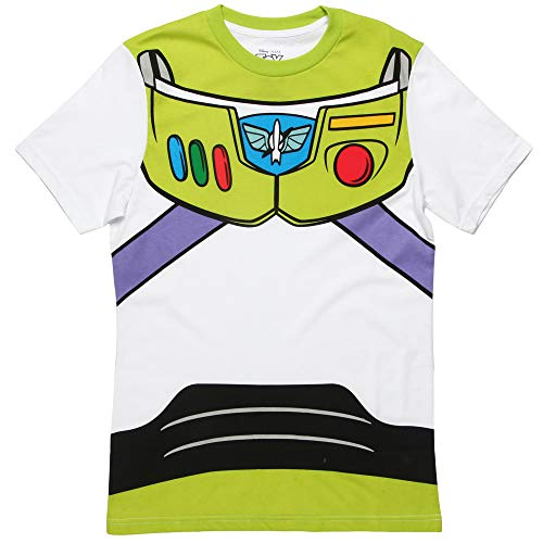 Toy Story Buzz Lightyear Astronaut Costume Adult T-Shirt (X-Small) White