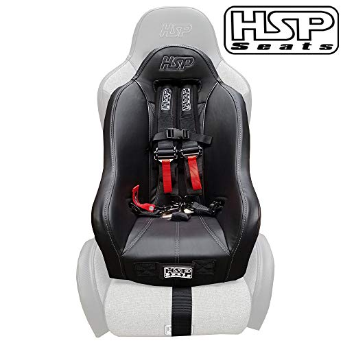 Hunter Safety Products UTV Booster Seat - Kids Seat with 4-Point Harness Slots for Polaris RZR, Can-Am X3, Apex, Honda Talon, Kawasaki KRX 1000, and Other Side by Side UTVs (SEAT ONLY)