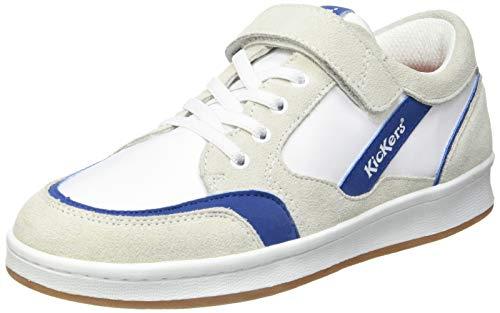 Kickers BISCKUIT, Zapatillas Bebé-Niños, Blanc Bleu, 21 EU