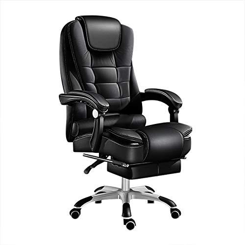 cadeira presidente com vibro massagem com apoio para pés e pés cromado COR PRETA