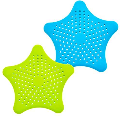CHILO ® Abflusssieb Silikon 2 Stück - Universell - Haarsieb Dusche, Abflusssieb Küche für jedes Waschbecken und Badewanne