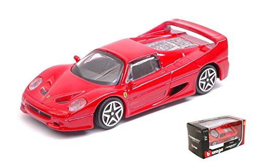 Ferrari F50 Red 1:43 – Burago – Coche de carretera – Die Cast – Modelo de coche