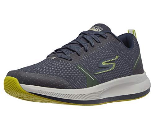 Skechers mens Go Run Pulse - Performance Running & Walking Shoe Sneaker, Navy/Lime, 11.5 US