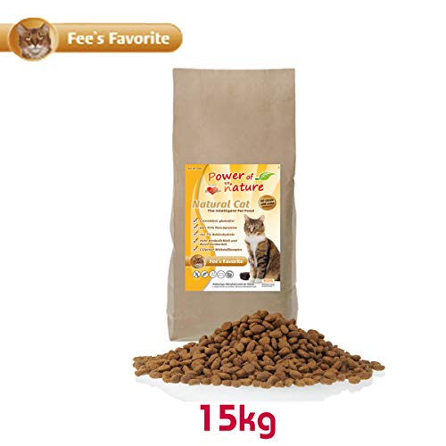 Power of Nature 15 kg Natural Cat Fees Favorite Katzenfutter Trockenfutter Huhn getreidefrei glutenfrei