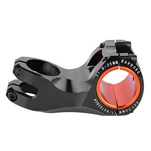 VGEBY1 Bike Stem, Bicycle Handlebar Stem Riser 17 Degree Aluminium Alloy Bike Tube Stem 31.8mm(Black)