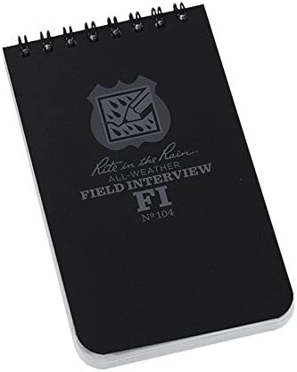 2 Pack Officers Field Interview Rite in the Rain 3x5 Pocket Notebook product image