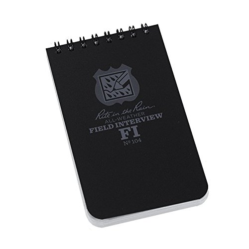 2 Pack Officers Field Interview Rite in the Rain 3x5 Pocket Notebook