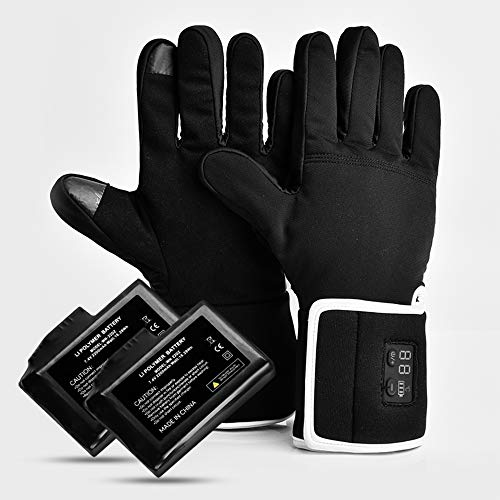 SZX Women Men Thin Heated Gloves with 2200mAh Rechargeable Battery Touchscreen 40-65 Celsius Degree Heating Gloves for Arthritis Raynaud Hiking Cycling Camping (M/L)