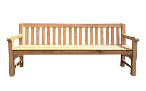 GRASEKAMP kwaliteit sinds 1972 tuinbank teak XL 200 cm tuinmeubelen houten bank zitbank parkeerbank