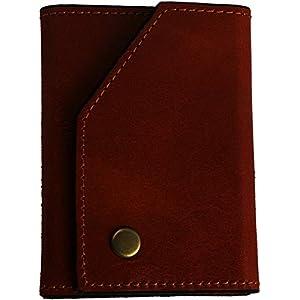 ブラウン 財布 メンズ 短財布 三つ折り イタリアンレザー ショートウォレット コンパクト 革財布 カード入れ 札入れ 天然皮革 本革 薄い 高級 シンプル ブランド プレゼント ギフト 父の日 PRHA-6001-BR_h4