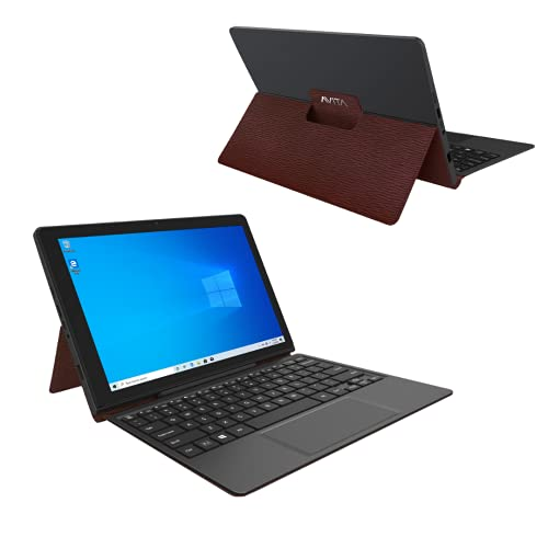AVITA Magus II 10.1' HD Tablet with Detachable Keyboard, Windows 10, Intel Celeron N4000 Processor, 4GB Ram & 64GB Storage (Burgundy)