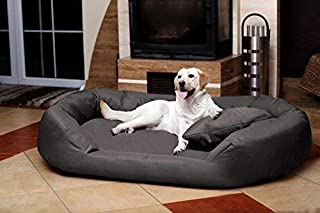 PETITUDE Luxurious and Durable Polyester Filled Soft Dual Colour Dog/Cat Bed ( Large )