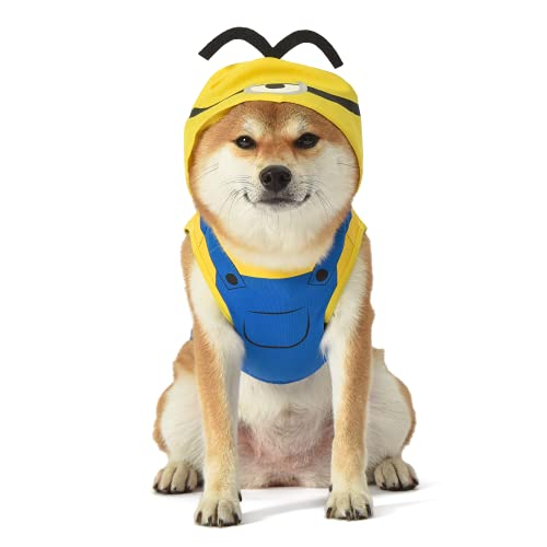 Minions Despicable Me Dog Halloween Costume   Dog Costume with Hood...