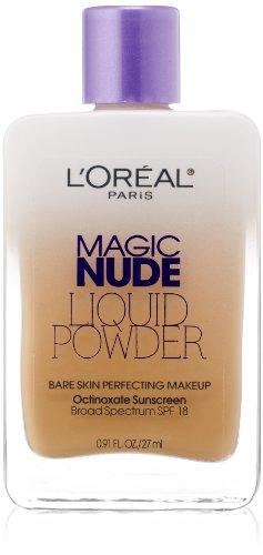 L'Oreal Paris Magic Nude Liquid Powder Bare Skin Perfecting Makeup SPF 18, Natural Beige, 0.91...