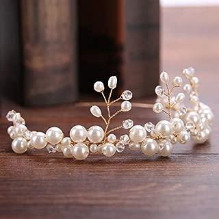 elastic pearl headband