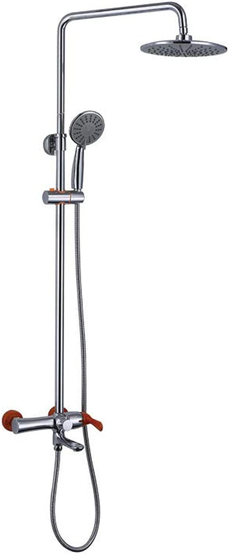 FUSHENG Wand-Duschsystem mit DREI Geschwindigkeitsstufen, Badezimmer-Luxus-Duschset, Luxus-Regenmischer, Regendusche-Handbrause - abnehmbares Multifunktions-Duschset