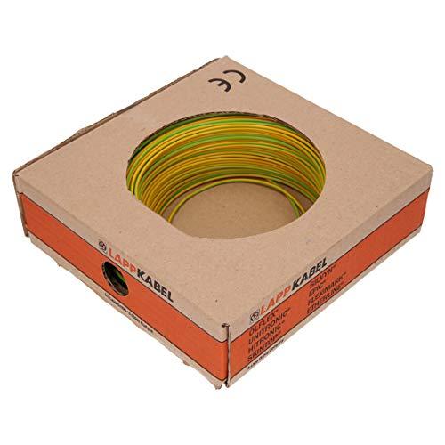 10 Meter Lapp 4520005 PVC Einzelader H07V-K 10 mm² grün/gelb gn/ge Schutzleiter Erdungskabel Erdung