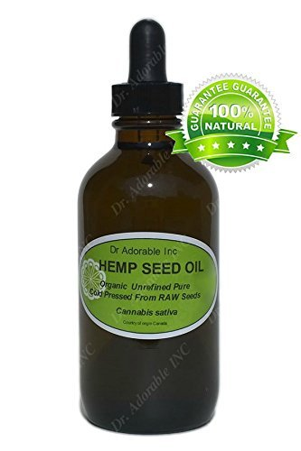Hemp Oil Benefits for Skin Care Hair Nail 1.1 oz Amber Glass Bottle with Glass Dropper