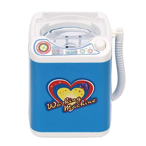 Uxsiya Mini Lavadora Eléctrica, Limpiador Automático de Brochas de Maquillaje, Juguete para Niños, Mini Lavadoras para Esponjas de Maquillaje(Azul)