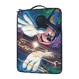 Mickey Minnie - Bolsa de hombro para ordenador portátil con gran capacidad de 13 14 15,6 pulgadas