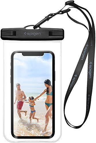 Spigen Funda Impermeable Móvil, Bolsa Impermeable Universal de la Bolsa Seca para iPhone X/7/7 Plus/6S/6S Plus/Galaxy S8/S8 Plus/S7/S7 Edge/LG/Nexus y más – A600 Crystal Clear