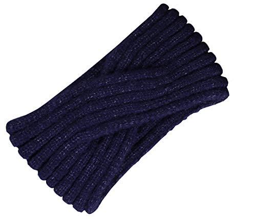 Alsino Stirnband Damen Haarband Winter Mädchen Kopfband Strick Geflochten Kinder Ohrenschützer Ohrenwärmer Vintage, Schwarz