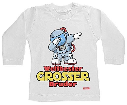 HARIZ T-shirt à manches longues pour bébé Motif branches de l'astronaut Dab Meilleur monde de Bruder Plus blanc Dents de lait blanches. 3-6 mois