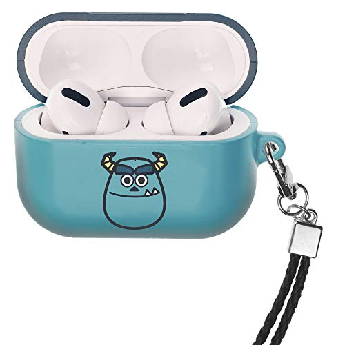 Monsters, Inc. AirPods Pro Case met Nek Lanyard Harde PC Shell Band Gat Cover [Front LED Zichtbaar] Accessoires Compatibel met Apple Airpods Pro, Monsters Smile Sulley