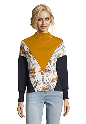 Scotch & Soda Maison Damen Colorblock Sweatshirt, Mehrfarbig (Combo C 0219), X-Small (Herstellergröße: XS)