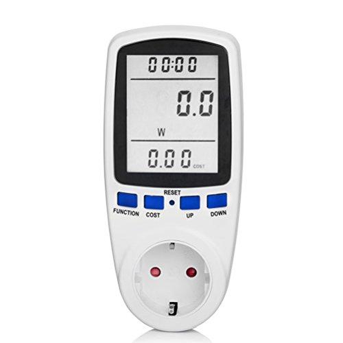 Energiekostenmessgerät, EletecPro Stromverbrauchszähler, Multifunktionssteckdose Automatische Berechnen Stromverbrauchs Verwendet Spannung Strom Zeitpunkt (Standby- und Stromverbrauch Messen)