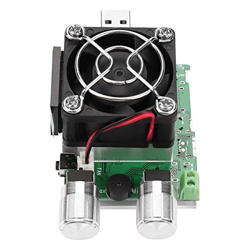 Elektronische USB-Last, 35-W-Leistungsmesser-Tester Batterietester mit LCD-Anzeige, einstellbarer Konstantstromwiderstand-Batterietester mit Lüfter