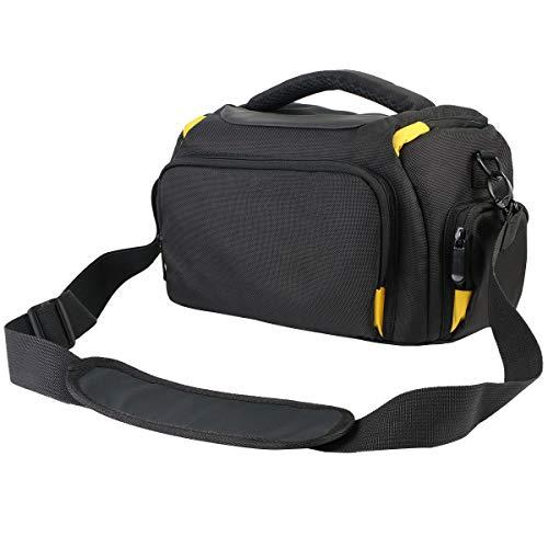 Khanka Funda Impermeable para cámara réflex Digital Nikon D3400,D3300, D5600,D5500,D5300, D7500,D7200,D750,D850, Canon EOS 4000D, 2000D 1300D,800D,750D,77D 80D 7D 200D. (X, Amarillo/Negro)