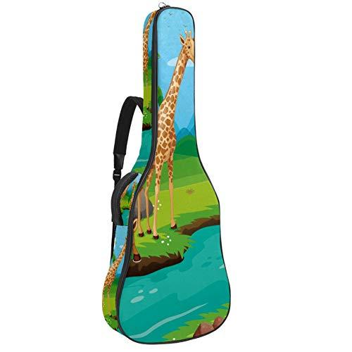 Bolsa para guitarra con tres jirafas para bebidas de río y agua...