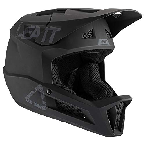 Leatt Casque MTB 1.0 DH Junior Casco de Bici, Negro, XXS