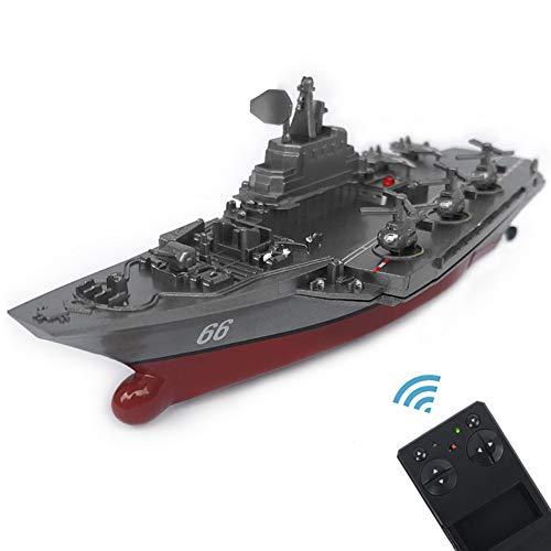 JHSHENGSHI RC Barco Radio Control Navío Buque de Guerra Portaaviones...