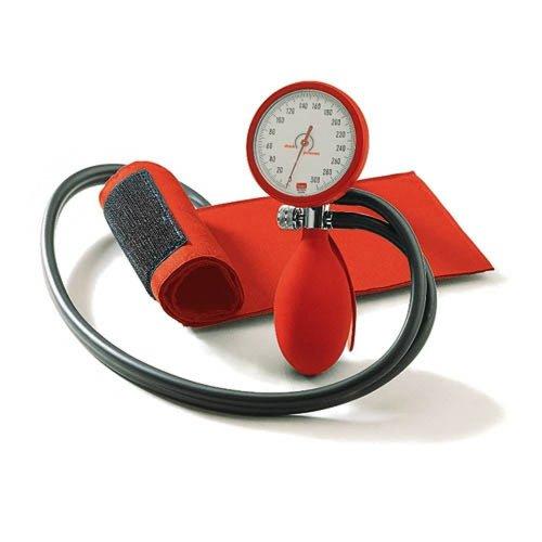 Blutdruckmessgerät boso clinicus II mit Klettenmanschette, rot