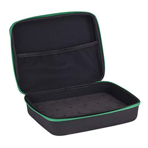 Perfeclan Caja de Almacenamiento con Relleno de Espuma portátil para Transportar de con y Flechas Herramientas linternas-Negro