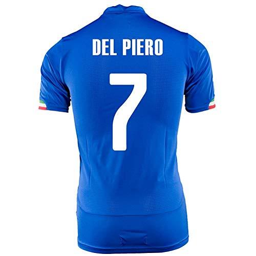 Puma Playera deportiva del Piero #7 Italia casa – Copa del Mundo 2014, Blue Royal, Mediano