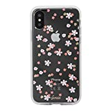Sonix Floral Bunch Case for iPhone X/XS [Military Drop Test Certified] Women's Embellished Rhinestone Crystal Flowers Protective Clear Case Apple iPhone X, iPhone Xs