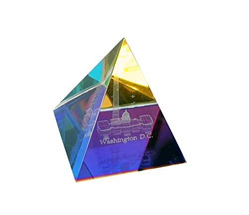 Washington DC Glass 3-D Crystal Pyramid Souvenir