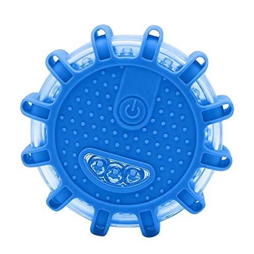 LED Warnleuchten Warnlicht Rundum-Warnblinkleuchte Sicherheitsfackel-Kit für Fahrzeuge 9 Leuchtmodi + Ladegerät,Wasserdicht Kabellos Antikollisions Sicherheitswarnleuchten Auto Ein/Aus 2PC (Blue)