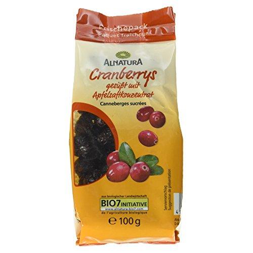 Alnatura Bio Trockenfrucht Cranberrys, vegan, 6er Pack (6 x 100 g)