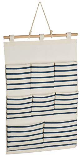 com-four® Almacenamiento Colgante - Práctico Organizador Colgante - Almacenamiento para Puerta y Pared - Armario Colgante para baño y habitación Infantil (01 Pieza - Azul)