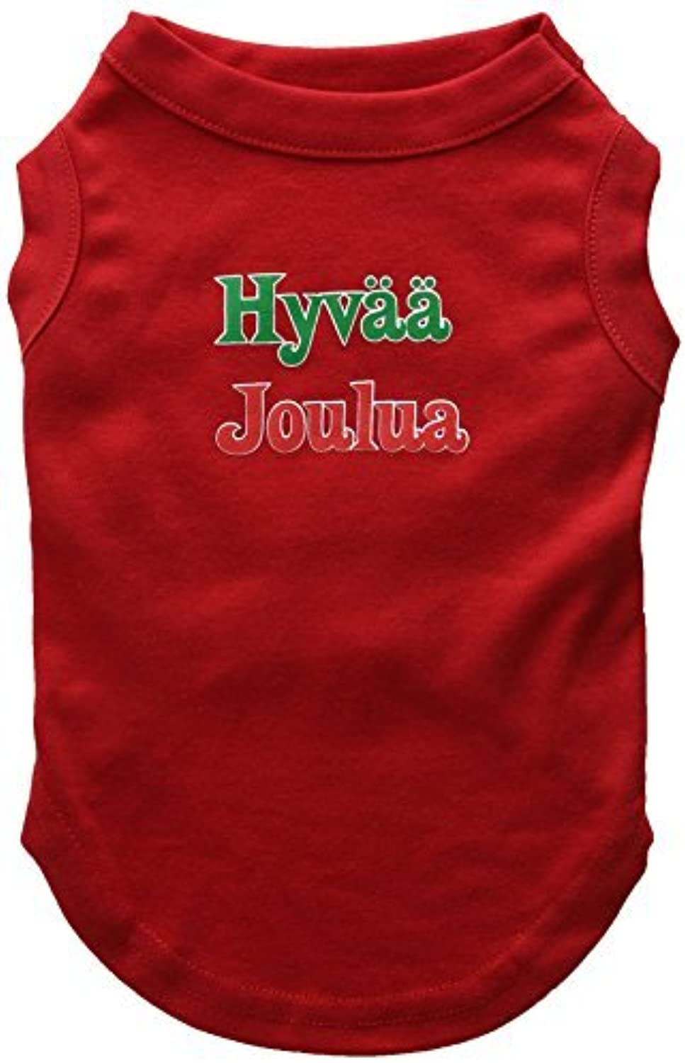 Mirage Pet Products 12Inch Hyvaa Joulua Screen Print Shirts for Pets, Medium, Red by Mirage Pet Products