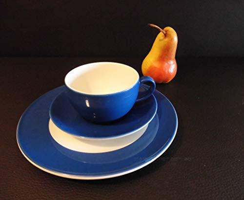 Dibbern SONDERAKTION - Originalware Solid Color - Kaffeetasse m.U. 0,25 + Teller 21 cm - Kornblume - NEU